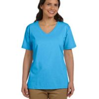 Ladies' 5.2 oz. Tagless® V-Neck T-Shirt Thumbnail
