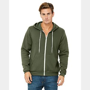 Unisex Poly-Cotton Sponge Fleece Full-Zip Hooded Sweatshirt Thumbnail