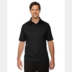 Men's Exhilarate Coffee Charcoal Performance Polo with Back Pocket Thumbnail