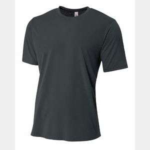 Men's Shorts Sleeve Spun Poly T-Shirt Thumbnail