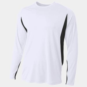 Men's Long Sleeve Color Block T-Shirt Thumbnail