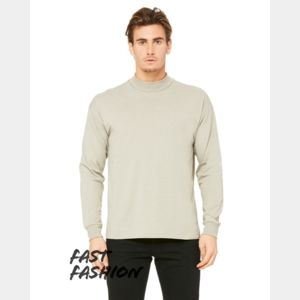 Fast Fashion Unisex Mock Neck Long Sleeve Tee Thumbnail