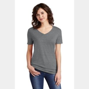 Ladies Snow Heather Jersey V Neck T Shirt Thumbnail