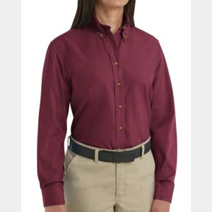 Women's Long Sleeve Poplin Dress Shirt Thumbnail