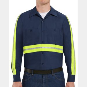 Industrial Enhanced-Visibility Long Sleeve Work Shirt -  Long Sizes Thumbnail