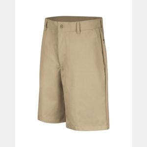 Cotton Casual Plain Front Shorts - Extended Sizes Thumbnail