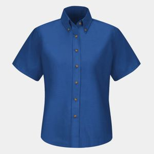 Women's Poplin Dress Shirt Extended Sizes Thumbnail