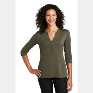 ® Ladies UV Choice Pique Henley Thumbnail