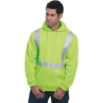 USA-Made Hi-Visibility Hooded Pullover Fleece Thumbnail