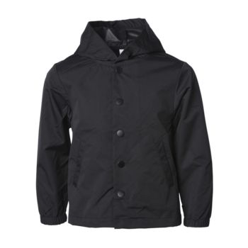 Youth Water Resistant Hooded Windbreaker Coaches Jacket Thumbnail