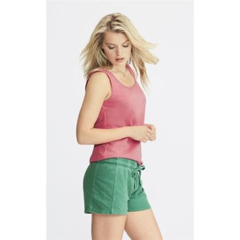 Garment-Dyed Women's French Terry Shorts Thumbnail