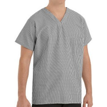Checked V-Neck Chef Shirt Thumbnail