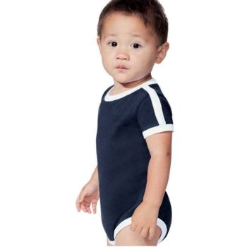 Infant Retro Ringer Fine Jersey Bodysuit Thumbnail