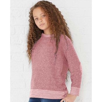 Youth Harborside Mélange French Terry Long Sleeve with Elbow Patches Thumbnail