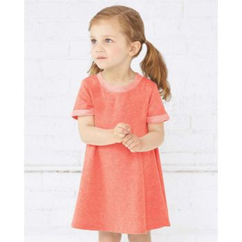 Toddler Harborside Mélange French Terry Twirl Dress Thumbnail