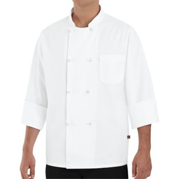 Eight Knot Button Chef Coat Long Sizes Thumbnail