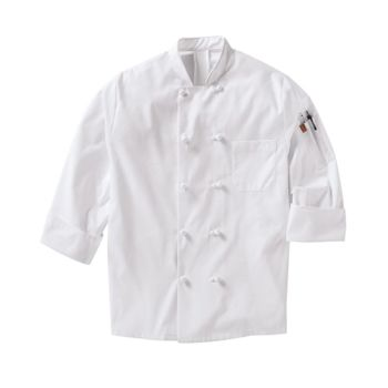 Mimix™ Ten Knot Button Chef Coat with OilBlok Thumbnail